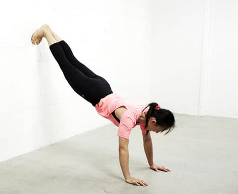 inverted wall pushups
