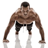 Άνδρας που κάνει push ups