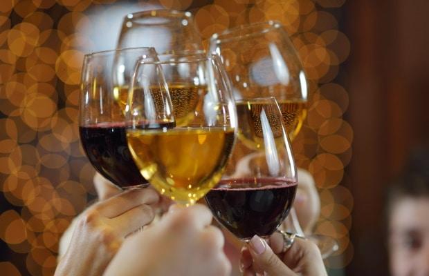 Ποτίρια με κρασί και σαμπάνια
