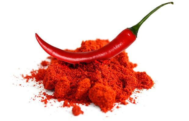 Σκόνη καυτερής πιπεριάς